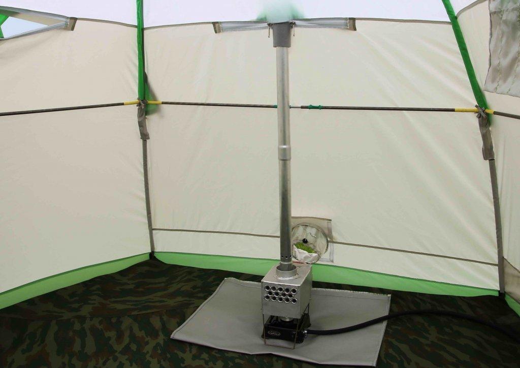 теплообменник в зимней палатке ЛОТОС 3