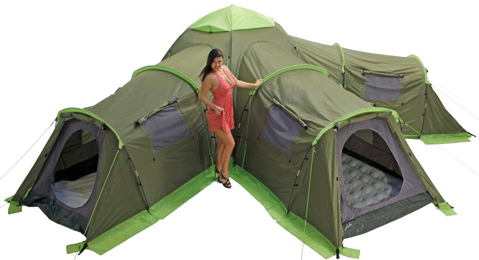 Летняя кемпинговая палатка ЛОТОС 5 Саммер с тремя спальными модулями