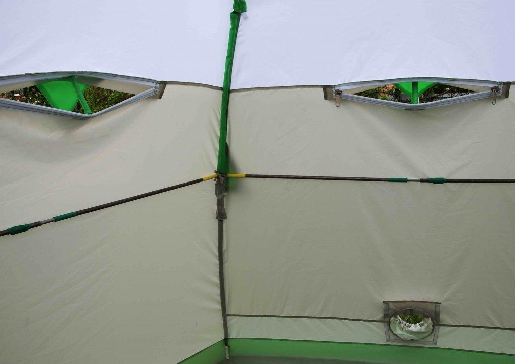 окошки на молнии на зимней палатке ЛОТОС 3