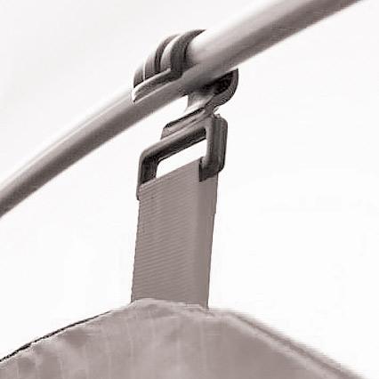 Система крепления внутреннего тента к палатке