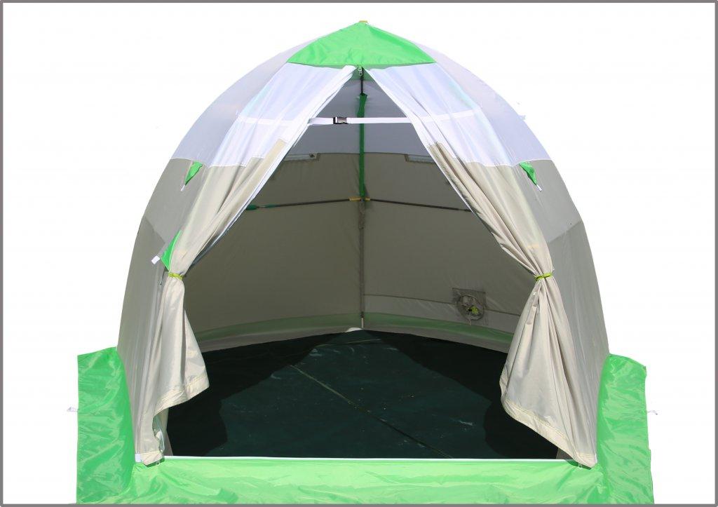 двухстворчатая дверь на зимней палатке ЛОТОС 3