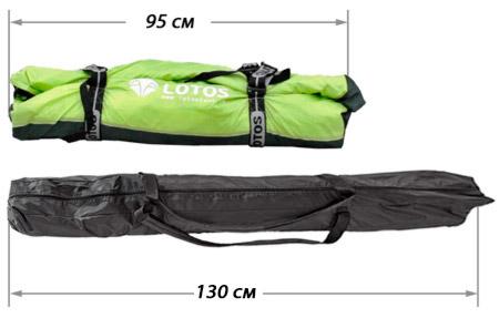 """Палатка """"Лотос Куб Профессионал"""" в сумке, сравнение"""