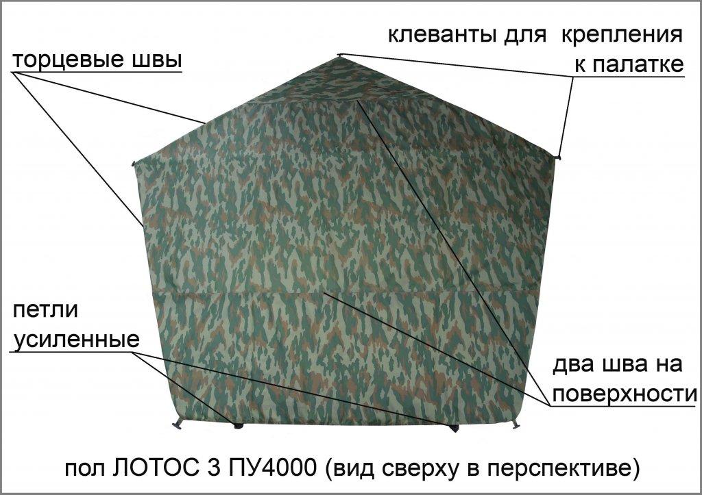 пол утепленный ЛОТОС 3 ПУ4000 (элементы)