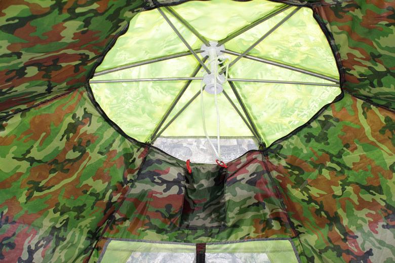 Палатка-шатер «Лотос Пикник». Отверстие во внутреннем тенте.
